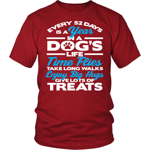 Every 52 Days Is A Year In A Dog's Life Shirt - Inspirations dog lover owner Teee - Luxurious Inspirations
