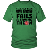 Fail Saving Throw DND T-Shirt - Luxurious Inspirations