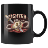 Fighter Dice D20 DND Mug - Critical Rage D&D RPG Coffee Cup - Luxurious Inspirations