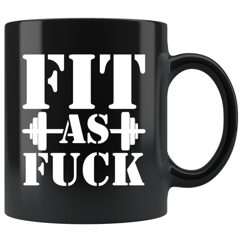 Fit As Fuck Gym Beast Workout Training Fitness Muscle Mug - Funny Black Coffee Cup - Luxurious Inspirations