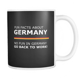 Fun Facts About Germany Mug Drinkware teelaunch black