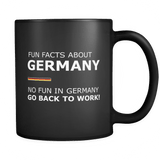 Fun Facts About Germany Second Style Black Mug - Luxurious Inspirations