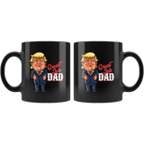 Funny Great Dad Donald Trump Father's Day Gift Mug - Fun Cartoon Black Coffee Cup - Luxurious Inspirations