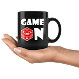 Game On Mug - Funny DND D20 Dice Critical Hit Roleplay Gaming Coffee Cup Drinkware teelaunch