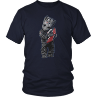Groot Patriots Hugging Football T-Shirt - Luxurious Inspirations