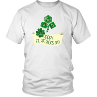 Happy St. Patrick's Day DND T-Shirt T-shirt teelaunch District Unisex Shirt White S