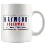 Haywood Jablowme Mug - Funny Offensive Vulgar Rude Blow Me Trump Elections Parody Coffee Cup - Luxurious Inspirations