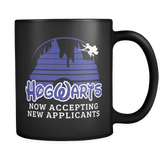 Hogwarts Castle Mug - Now accepting new applications Disney Coffee Cup Drinkware teelaunch Black