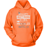 Hogwarts Wasn't Hiring So I Heal Muggles Instead Hoodie - Funny Nurse Doctor Medical Magical Tee Shirt T-Shirt Sweatshirt T-shirt teelaunch Unisex Hoodie Neon Orange S