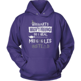 Hogwarts Wasn't Hiring So I Heal Muggles Instead Hoodie - Funny Nurse Doctor Medical Magical Tee Shirt T-Shirt Sweatshirt T-shirt teelaunch Unisex Hoodie Purple S