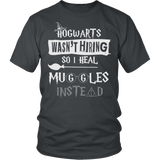 Hogwarts Wasn't Hiring So I Heal Muggles Instead Shirt - Funny Nurse Doctor Medical Magical Tee T-shirt teelaunch District Unisex Shirt Charcoal S