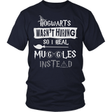 Hogwarts Wasn't Hiring So I Heal Muggles Instead Shirt - Funny Nurse Doctor Medical Magical Tee T-shirt teelaunch District Unisex Shirt Navy S