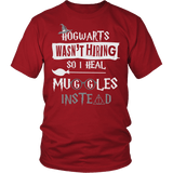 Hogwarts Wasn't Hiring So I Heal Muggles Instead Shirt - Funny Nurse Doctor Medical Magical Tee T-shirt teelaunch District Unisex Shirt Red S