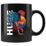 Huge Cock Rooster Mug Funny Offensive Rude Crude Adult Humor Dick Coffee Cup Drinkware teelaunch black