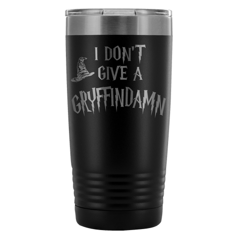 I Don't Give A Gryffindamn Engraved 20oz Tumbler Cup - Funny Offensive Parody Beer Wine Mug Tumblers teelaunch Black