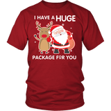 I Have A Huge Package For You Shirt - Funny Santa Claus Christmas Offensive Adult Tee T-shirt teelaunch District Unisex Shirt Red S