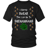 I Swear That I Am Up To Shenanigans Shirt -Funny Drinking Clover Leaf Tee - Luxurious Inspirations