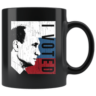 I Voted Putin Anti-Trump Mug - Russia Election 2016 2020 Trump Impeach Coffee Cup Drinkware teelaunch black