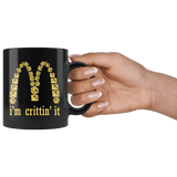 I'm Crittin' It Parody DND Mug - Funny D20 Critical Joke Coffee Cup - Luxurious Inspirations
