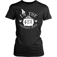 I'm The Fourth Sanderson Sister Shirt - Funny Halloween Witch Hocus Pocus Tee T-shirt teelaunch District Womens Shirt Black XS