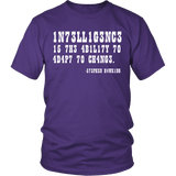 Intelligence is the Ability to Adapt to Change Shirt - Funny Intelligent Decoder Tee T-shirt teelaunch District Unisex Shirt Purple S