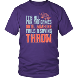 It's All Fun And Games Until Someone Fails A Saving Throw Funny DND RPG Tabletop T-Shirt - Luxurious Inspirations