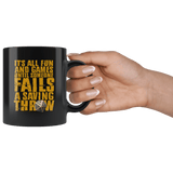 It's All Fun And Games Until Someone Fails A Saving Throw Mug - Funny DND D&D Coffee Cup - Luxurious Inspirations