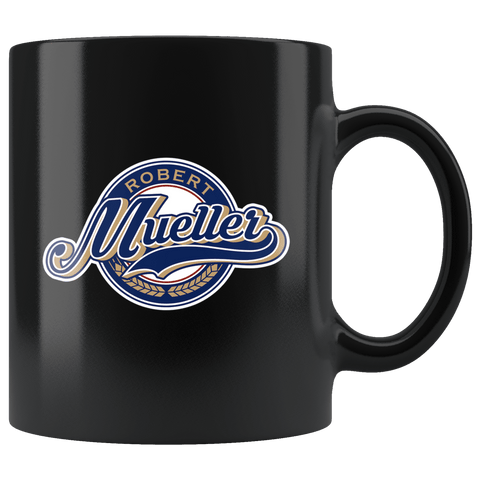 It's Mueller Time Mug - Support Justice Against Corruption Trump Robert Coffee Cup Drinkware teelaunch black