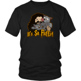 It's So Fluffy Hagrid 3 Headed Dog Magical T-Shirt T-shirt teelaunch District Unisex Shirt Black S