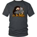 It's So Fluffy Hagrid 3 Headed Dog Magical T-Shirt T-shirt teelaunch District Unisex Shirt Charcoal S