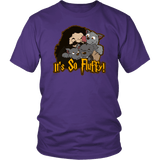 It's So Fluffy Hagrid 3 Headed Dog Magical T-Shirt T-shirt teelaunch District Unisex Shirt Purple S