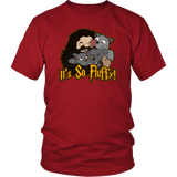 It's So Fluffy Hagrid 3 Headed Dog Magical T-Shirt T-shirt teelaunch District Unisex Shirt Red S
