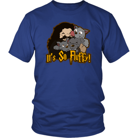 It's So Fluffy Hagrid 3 Headed Dog Magical T-Shirt T-shirt teelaunch District Unisex Shirt Royal Blue S