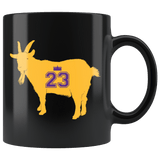 James Goat Greatest of All Time Los Angeles Mug - Fan Coffee Cup Drinkware teelaunch black
