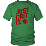 Just Crit It DND D20 T-Shirt - Luxurious Inspirations