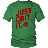 Just Crit It DND T-Shirt - Luxurious Inspirations