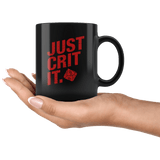 Just Crit It Mug - Funny DND D&D DM D20 RPG Coffee Cup Drinkware teelaunch