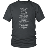Keep Calm DND And Carry On T-Shirt T-shirt teelaunch District Unisex Shirt Charcoal S