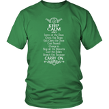 Keep Calm DND And Carry On T-Shirt T-shirt teelaunch District Unisex Shirt Kelly Green S