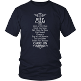 Keep Calm DND And Carry On T-Shirt T-shirt teelaunch District Unisex Shirt Navy S