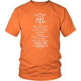 Keep Calm DND And Carry On T-Shirt T-shirt teelaunch District Unisex Shirt Orange S