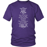 Keep Calm DND And Carry On T-Shirt T-shirt teelaunch District Unisex Shirt Purple S