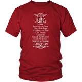 Keep Calm DND And Carry On T-Shirt T-shirt teelaunch District Unisex Shirt Red S