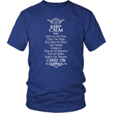 Keep Calm DND And Carry On T-Shirt T-shirt teelaunch District Unisex Shirt Royal Blue S