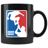 Khabib Smesh Mug - Funny MMA Parody Fan Art Shirt Coffee Cup Drinkware teelaunch black