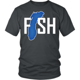 Lake Michigan Fisherman Shirt - Clever Gift Fishing Fish Tee - Luxurious Inspirations