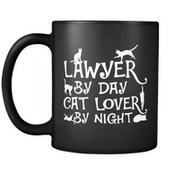 Lawyer By Day Cat Lover By Night Mug - Funny Law Cats Coffee Cup Drinkware teelaunch