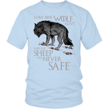 Leave One Wolf Alive And The Sheep Are Never Safe Shirt - Fan Tee T-shirt teelaunch District Unisex Shirt Ice Blue S