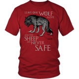 Leave One Wolf Alive And The Sheep Are Never Safe Shirt - Fan Tee T-shirt teelaunch District Unisex Shirt Red S