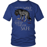Leave One Wolf Alive And The Sheep Are Never Safe Shirt - Fan Tee T-shirt teelaunch District Unisex Shirt Royal Blue S